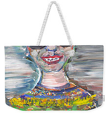 Weekender Tote Bag featuring the painting Probably Reincarnated by Fabrizio Cassetta