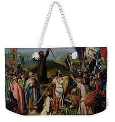 Procession Of Crusaders Around Jerusalem Weekender Tote Bag by Jean Victor Schnetz