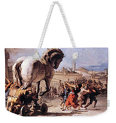 Procession Of The Trojan Horse  Weekender Tote Bag