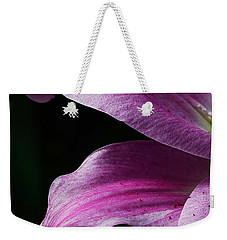 Profile In Pink Weekender Tote Bag by Cindy Manero