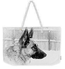 Profile Of A German Shepherd Weekender Tote Bag