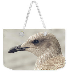 Weekender Tote Bag featuring the photograph Profile Of Juvenile Seagull by Jacek Wojnarowski