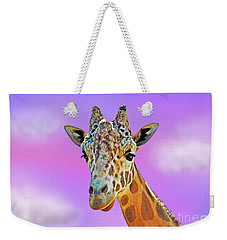 Profile Portrait Of A Giraffe IIi Weekender Tote Bag by Jim Fitzpatrick