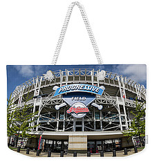 Weekender Tote Bag featuring the photograph Progressive Field by Dale Kincaid