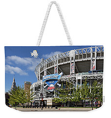 Weekender Tote Bag featuring the photograph Progressive Field In Cleveland Ohio by Dale Kincaid