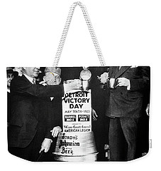 Prohibition Ends - Stroh's Brewery Celbrates - Detroit 1933 Weekender Tote Bag by Daniel Hagerman