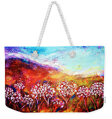 Weekender Tote Bag featuring the painting Promise by Winsome Gunning