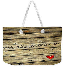 Propose To Me Weekender Tote Bag by Carolyn Marshall