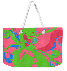Weekender Tote Bag featuring the drawing Prosperity by Kim Sy Ok