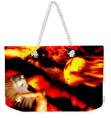 Weekender Tote Bag featuring the digital art Protection by Isabella F Abbie Shores FRSA