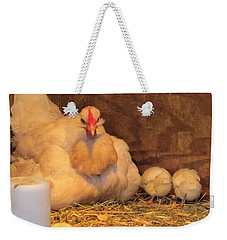 Proud Mother Hen Weekender Tote Bag by Jeanette Oberholtzer