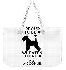 Proud To Be A Wheaten Weekender Tote Bag