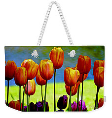 Proud Tulips Weekender Tote Bag by Michael Cinnamond