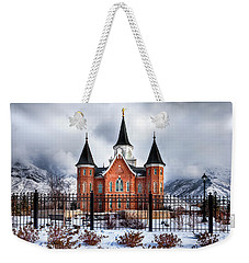 Provo City Center Temple Lds Large Canvas Art, Canvas Print, Large Art, Large Wall Decor, Home Decor Weekender Tote Bag by David Millenheft
