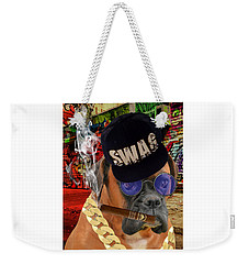 Weekender Tote Bag featuring the mixed media Prowess by Marvin Blaine