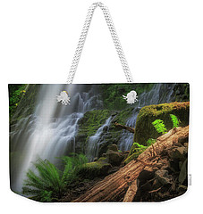 Weekender Tote Bag featuring the photograph Proxy Falls by Cat Connor