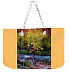 Weekender Tote Bag featuring the digital art Psalm 1 by Annette Berglund