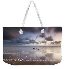 Psalm 19 1 Weekender Tote Bag