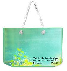 Psalm 27 Weekender Tote Bag