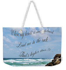 Weekender Tote Bag featuring the photograph Psalm 61 by Judy Hall-Folde