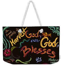 Psalm 67 Weekender Tote Bag