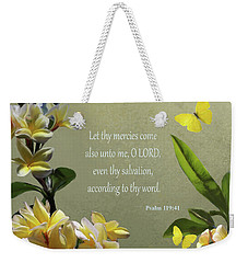 Psalms 02 Weekender Tote Bag