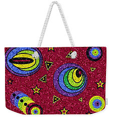 Weekender Tote Bag featuring the digital art Pschedelic Universe Mosaic by Shelli Fitzpatrick