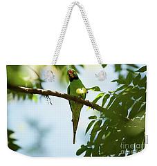 Psittacula Krameri Weekender Tote Bag