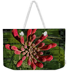 Weekender Tote Bag featuring the photograph Psychedelic Bud by Jean Noren