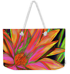 Weekender Tote Bag featuring the photograph Psychedelic Daisy By Kaye Menner by Kaye Menner