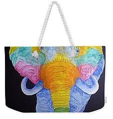 Psychedelic Elephant  Weekender Tote Bag