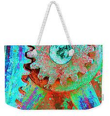 Psychedelic Gears Weekender Tote Bag by Phyllis Denton