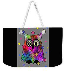 Psychedelic Owl Weekender Tote Bag
