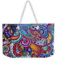 Psychedelic Paisley Weekender Tote Bag