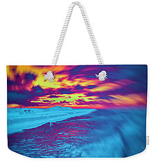 Psychedelic Sunset Weekender Tote Bag