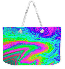 Weekender Tote Bag featuring the photograph Psychedelic Swirl by Jean Noren