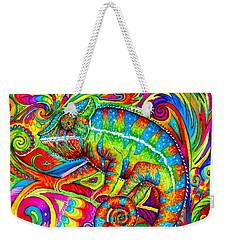 Psychedelizard Weekender Tote Bag