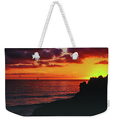 Weekender Tote Bag featuring the photograph Pt Mugu Sunset by Samuel M Purvis III