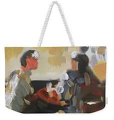 Pub Talk Weekender Tote Bag