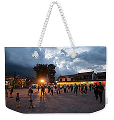 Public Dancing Weekender Tote Bag by Wade Aiken