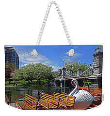 Public Garden Swan Boat In The Spring Boston Ma Weekender Tote Bag