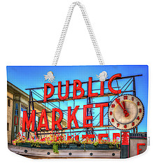 Weekender Tote Bag featuring the photograph Public Market At Noon by Spencer McDonald
