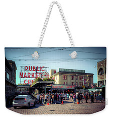Weekender Tote Bag featuring the photograph Public Market Crowd by Spencer McDonald