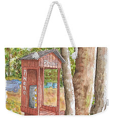 Public Phone In Mammoth Lakes, California Weekender Tote Bag
