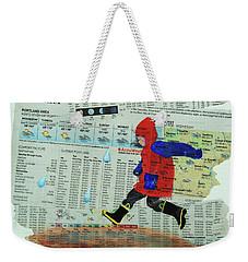 Puddle Jumping Weekender Tote Bag