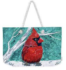 Pudgy Cardinal Weekender Tote Bag