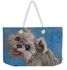 Pudgy Smiles Weekender Tote Bag by Barbara O'Toole