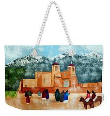 Pueblo Church Weekender Tote Bag by Joseph Frank Baraba