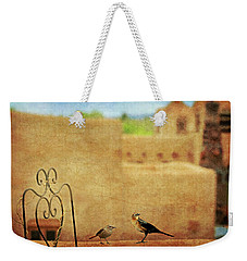Weekender Tote Bag featuring the photograph Pueblo Village Settlers by Diana Angstadt