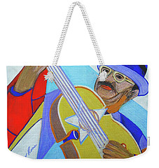Weekender Tote Bag featuring the painting Puerto Rican Cuatro  - Ten Strings by Denise Weaver Ross
